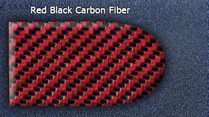 Real Red Black Carbon Fiber